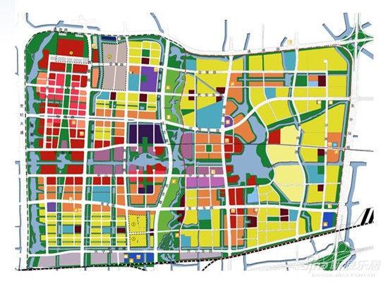 图为东部新城总规划图